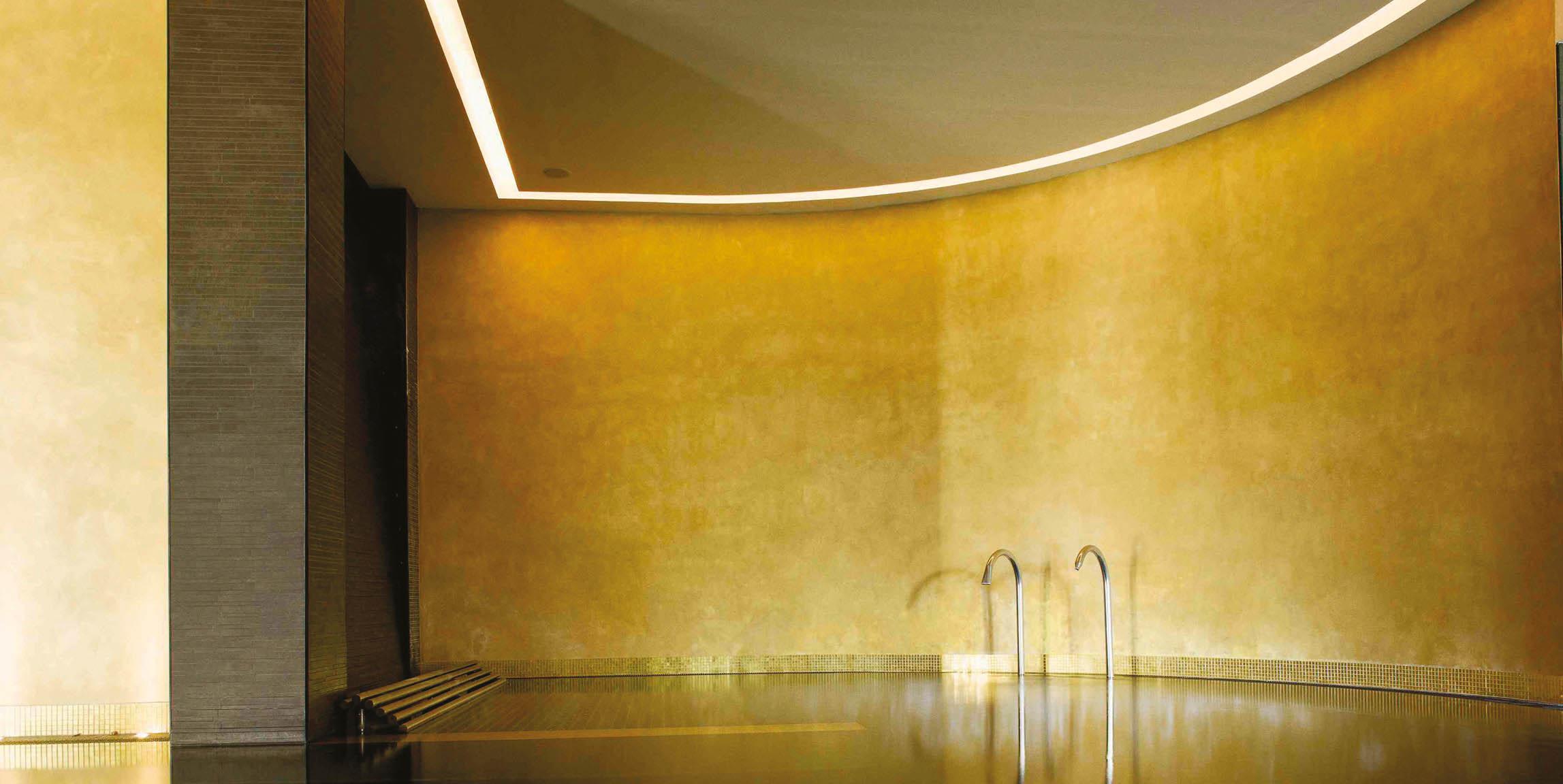 gold chamois polished plaster