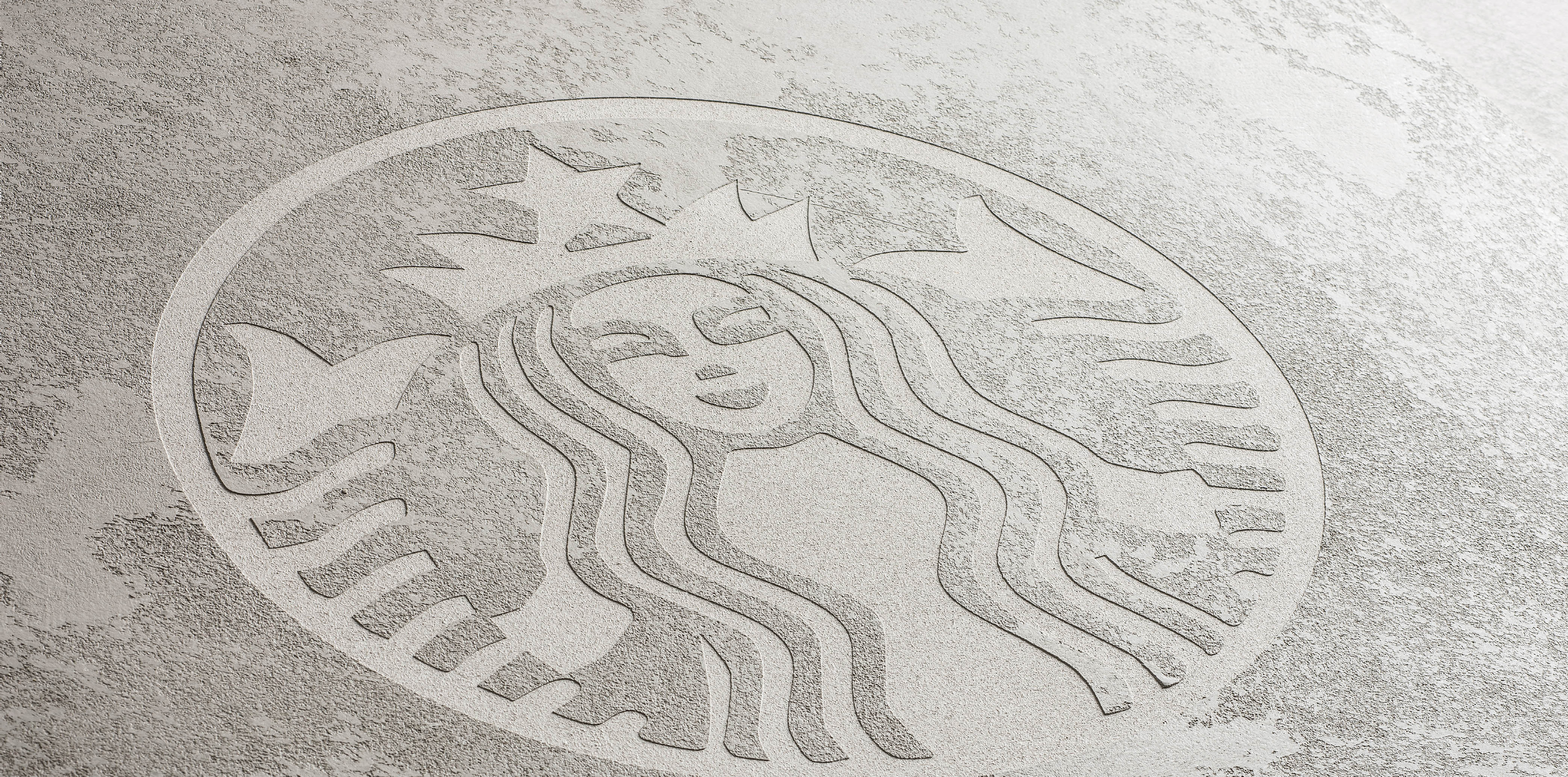 starbucks concrete polished plaster