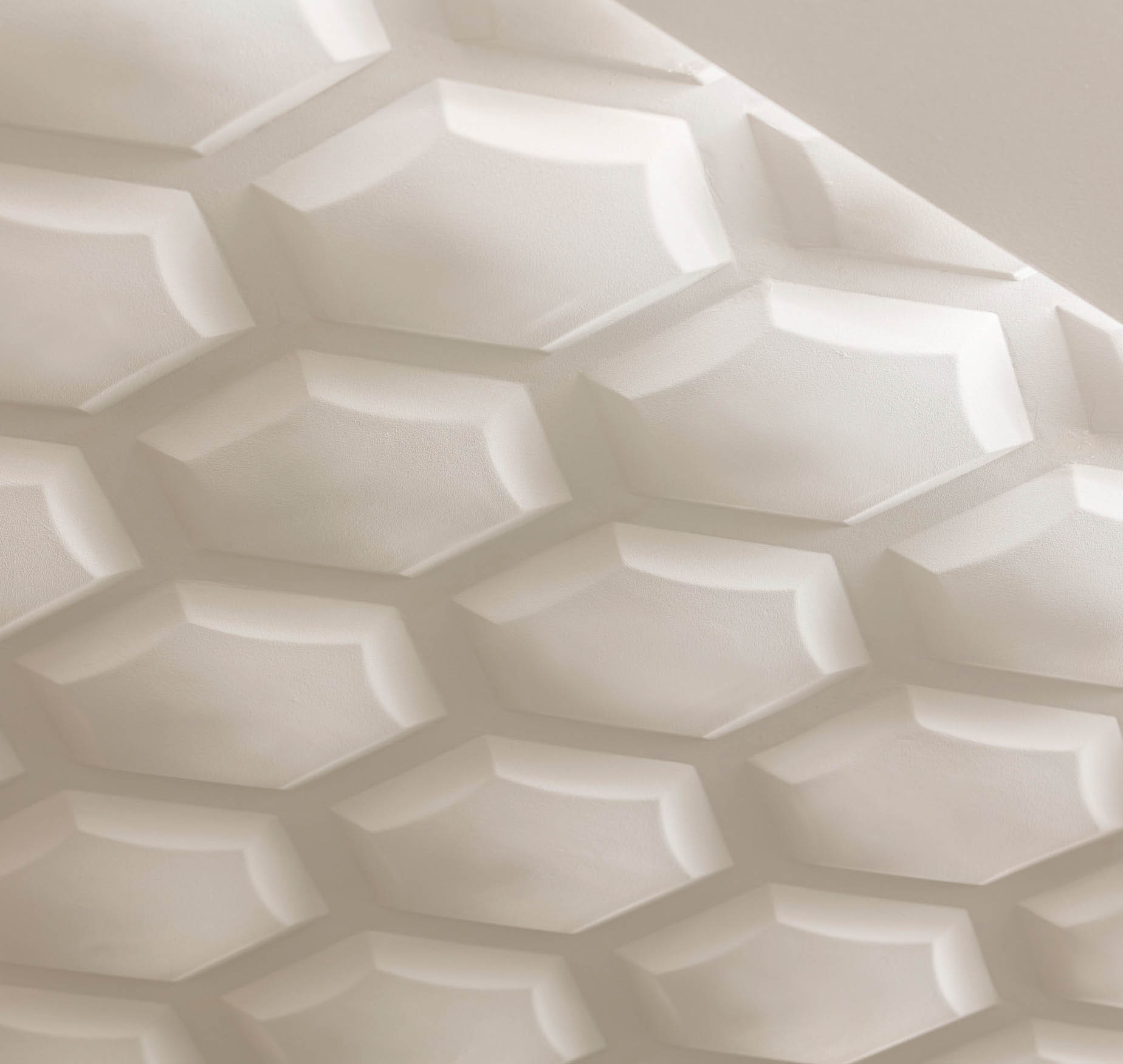 Traver Smith London Hexagon Relief Plaster