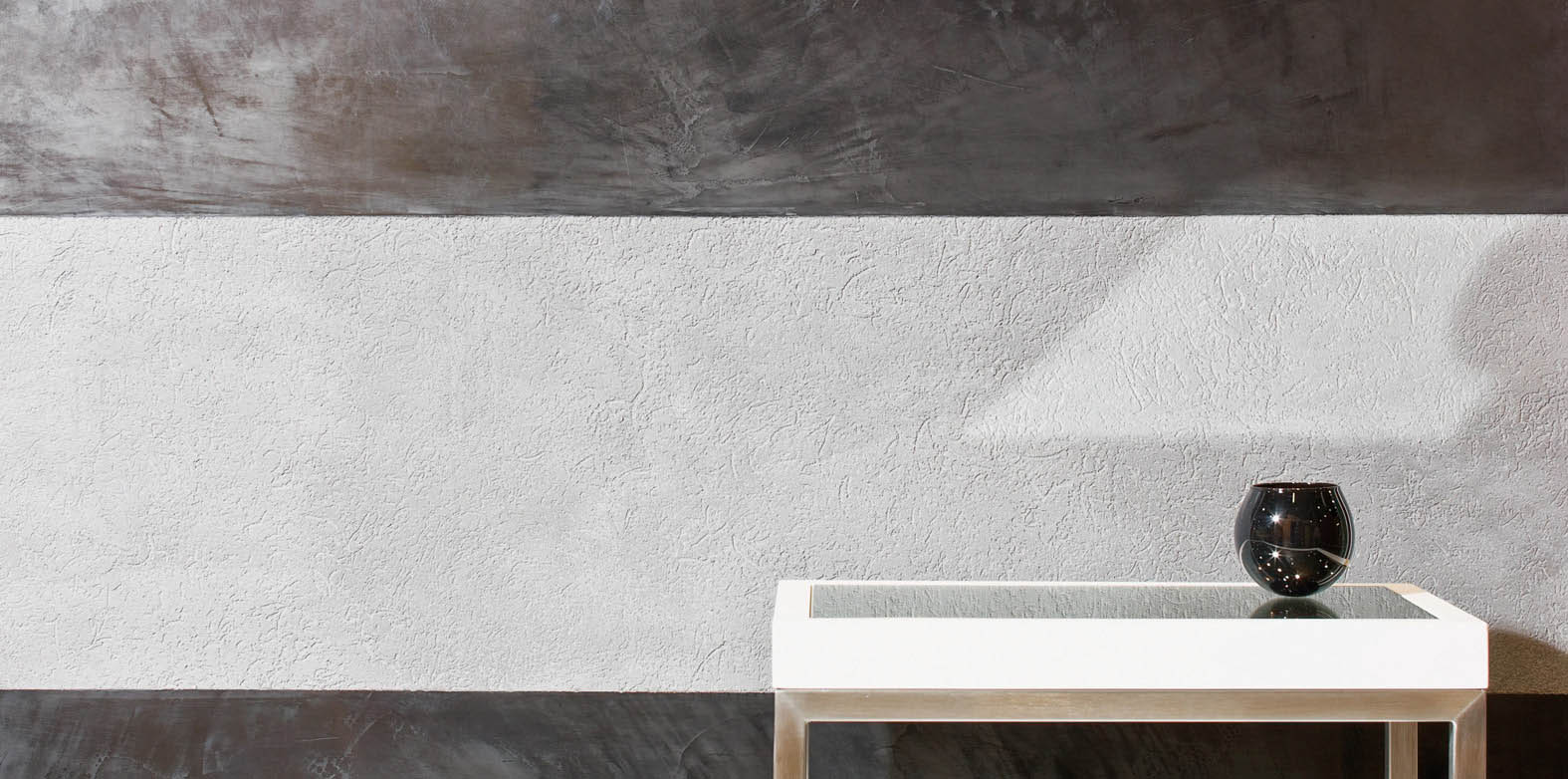 pitted polished plaster grey