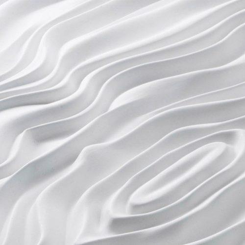 Peter Mark Hairdresser Dublin Ireland Folded Fabric Relief Plaster